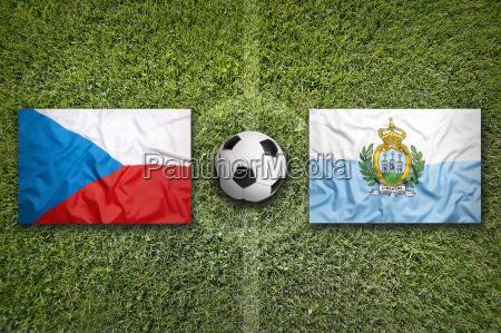 czech republic vs san marino flags