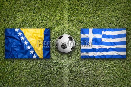 bosnia and herzegovina vs greece flags