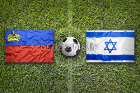 liechtenstein vs israel flags on soccer