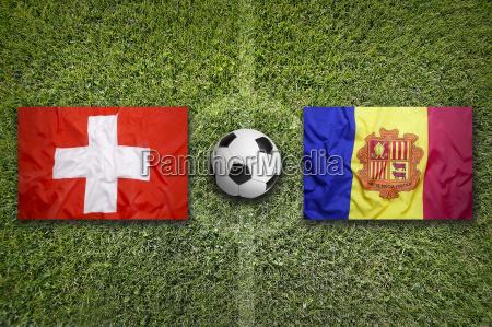 switzerland vs andorra flags on soccer