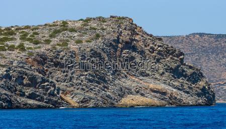 mediterranean sea crete greece the cliffs