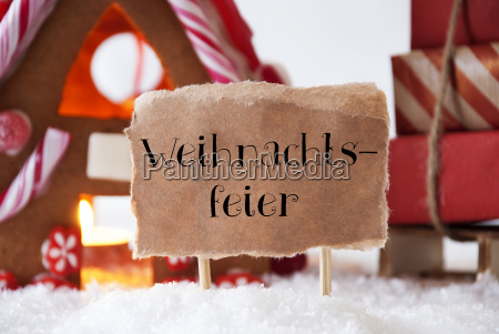 gingerbread, house, with, sled, , weihnachtsfeier, means - 19410494