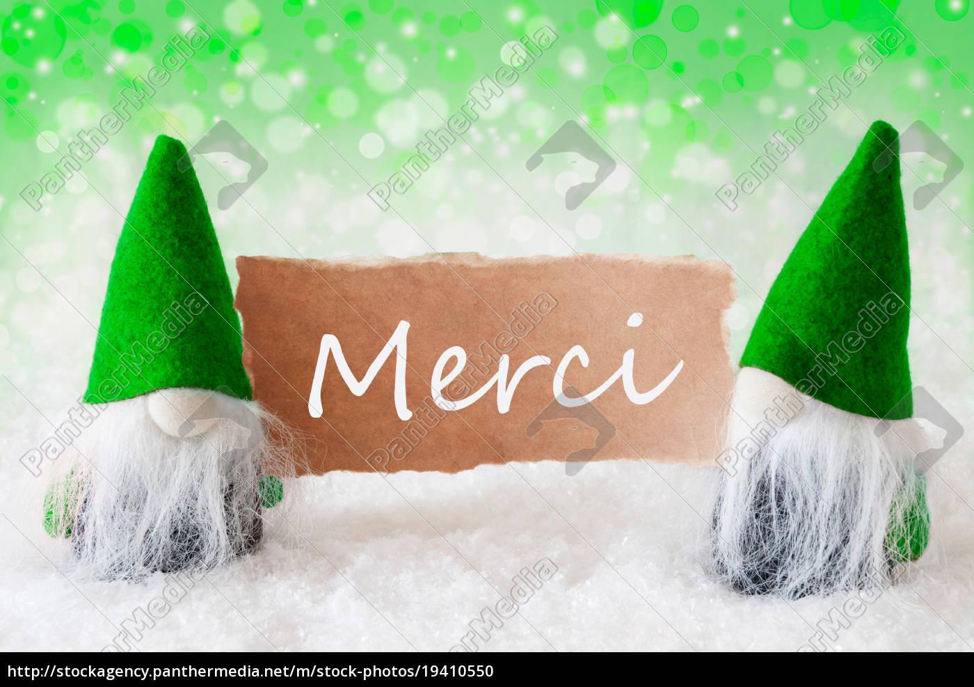 green, natural, gnomes, with, card, , merci - 19410550