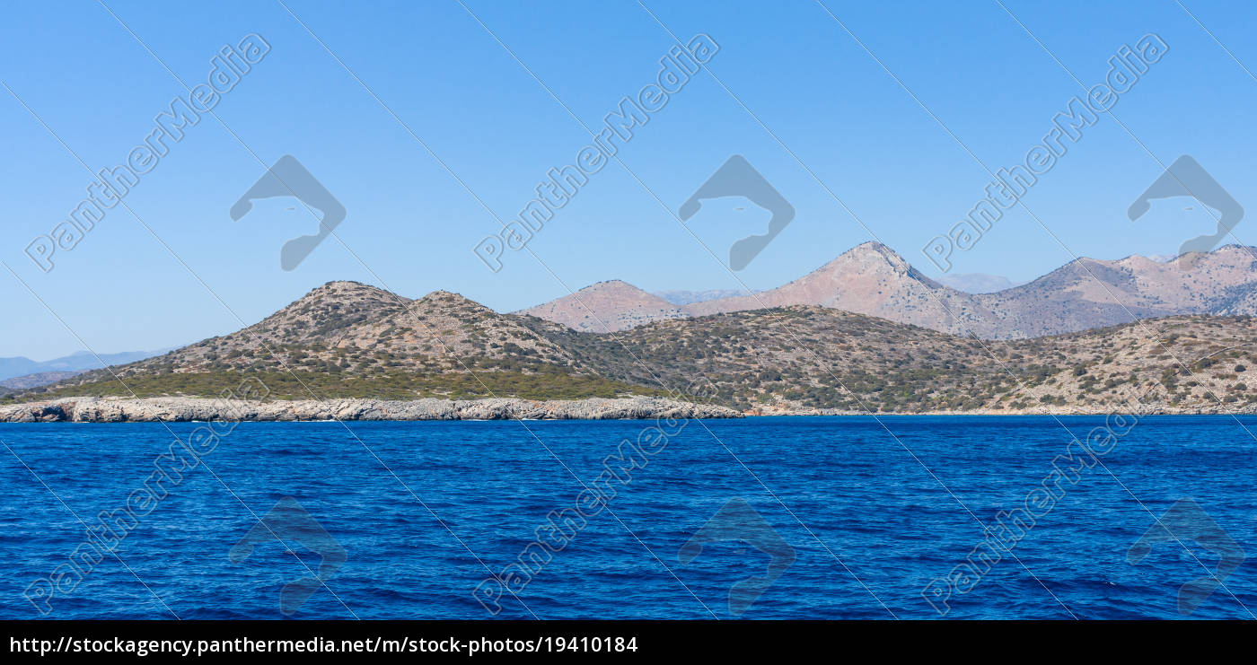 mediterranean, sea., crete., greece., the, cliffs - 19410184