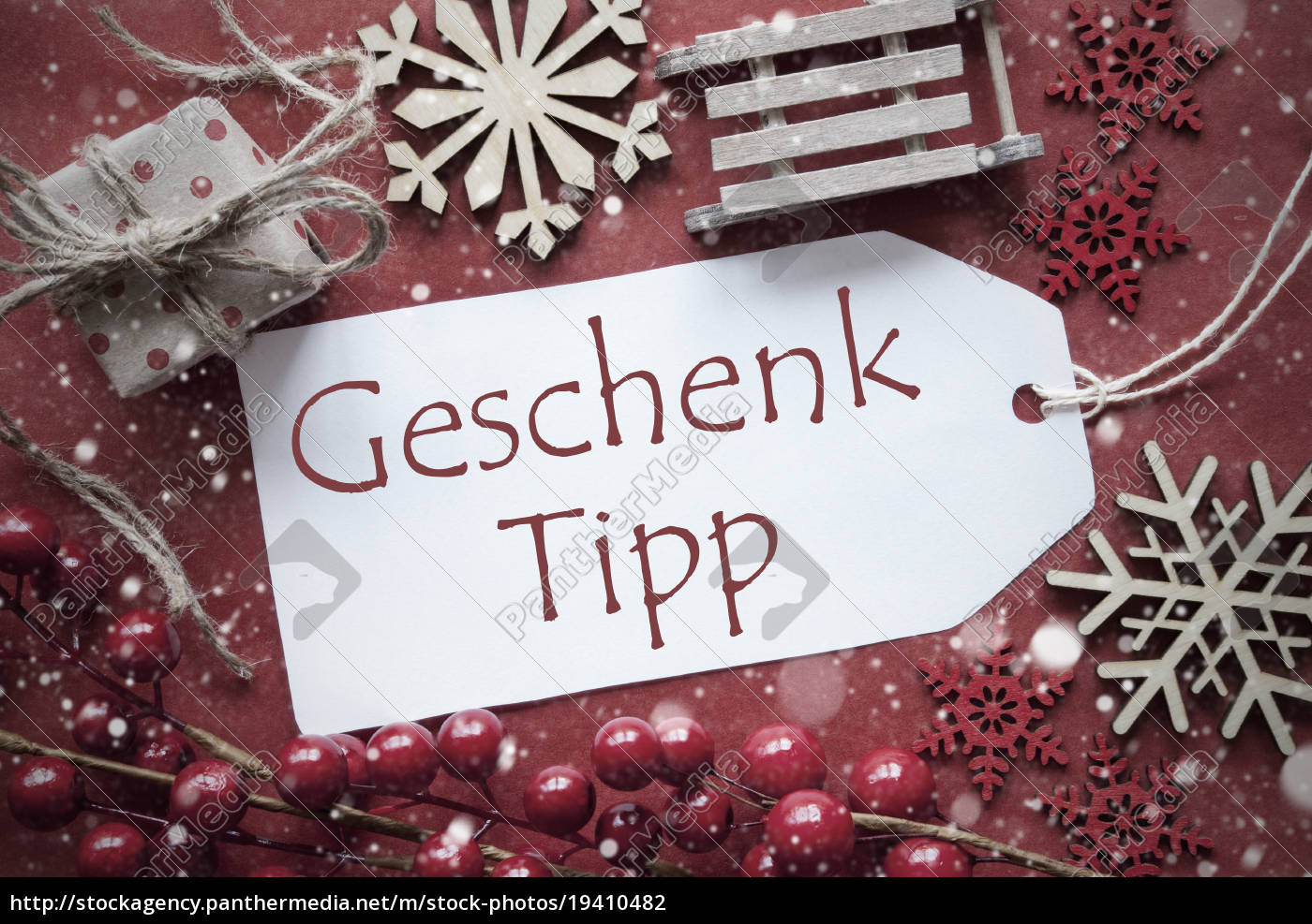 nostalgic, christmas, decoration, , label, with, geschenk - 19410482
