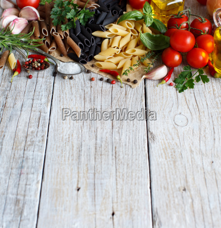 penne, pasta, with, vegetables, , , herbs - 19410862