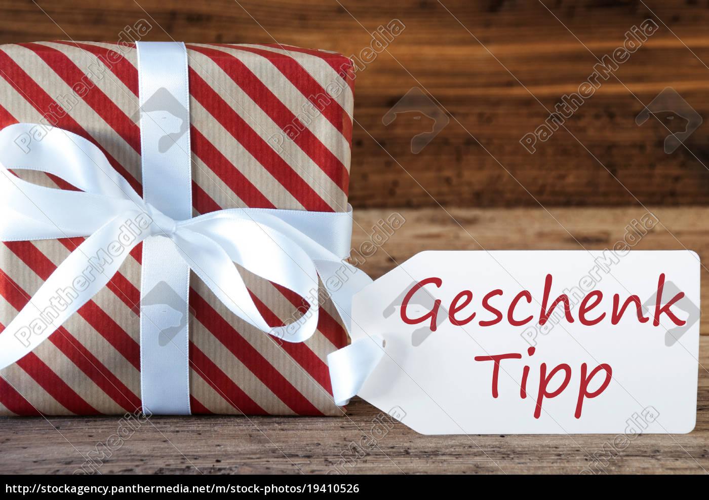 present, with, label, , geschenk, tipp, means - 19410526