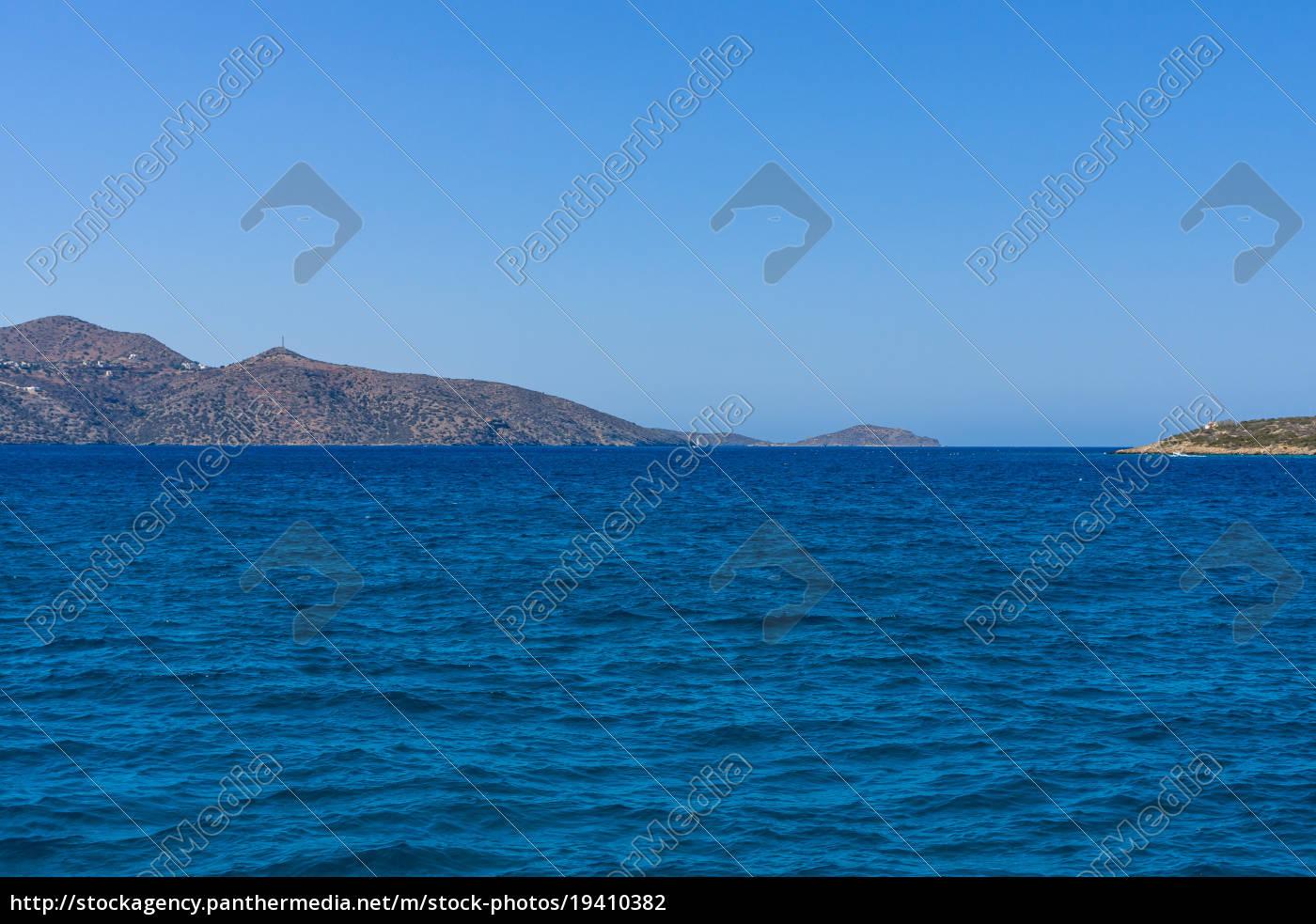 seascape., mediterranean, sea., crete., greece. - 19410382