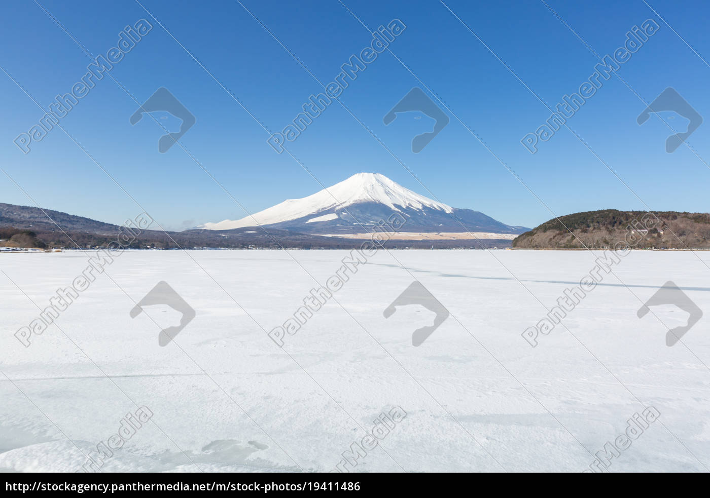 mountain, fuji, winter - 19411486