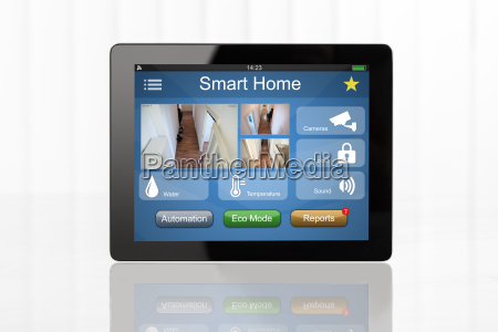 digital, tablet, showing, home, automation, system - 19412438