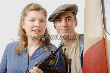 young, couple, of, french, resistant, to - 19412844