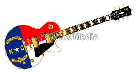 north carolina state flag guitar
