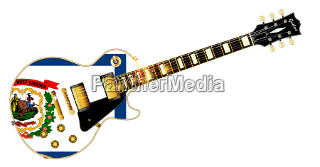 west virginia state flag guitar
