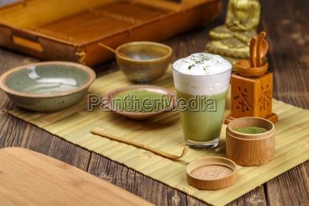 green, tea, matcha, latte - 19413138