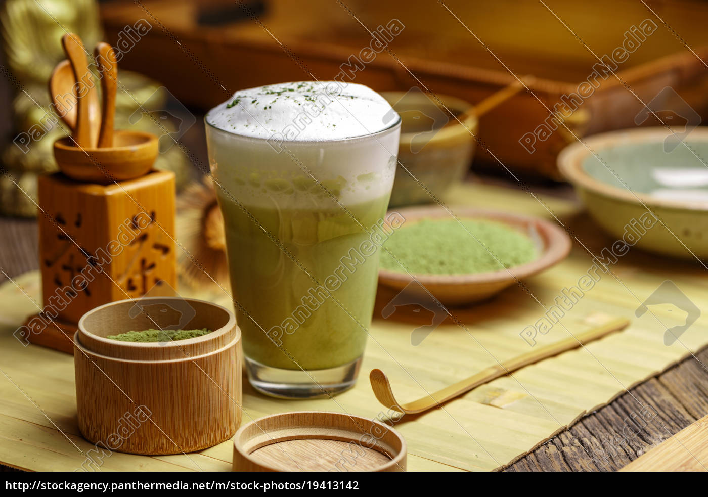 green, tea, matcha, latte - 19413142