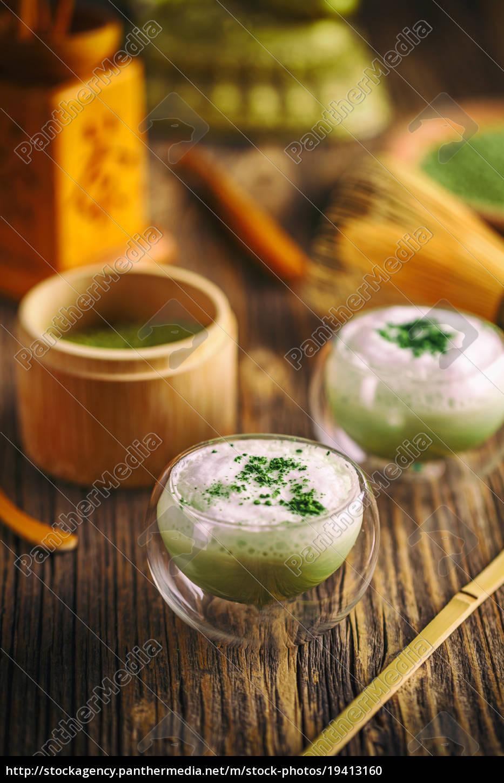 green, tea, matcha, latte - 19413160