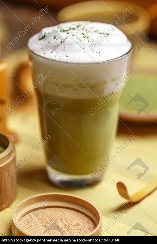 green, tea, matcha, latte - 19413168