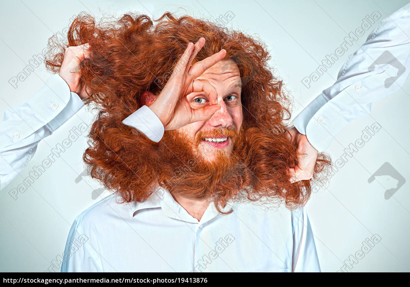 the, angry, man, tearing, his, hair - 19413876