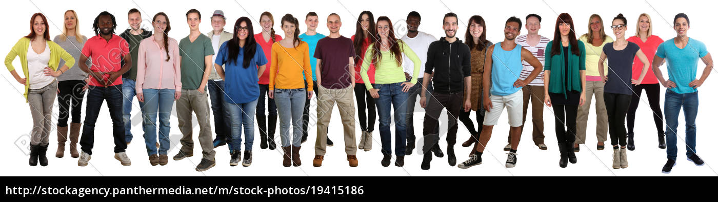 people, laugh, happily, multicultural, people, group - 19415186