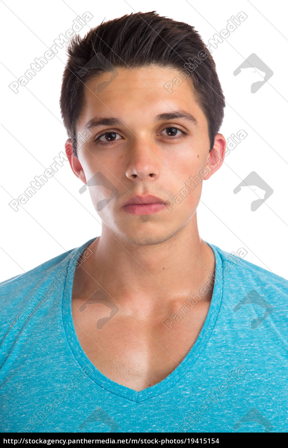 young, man, portrait, young, face, muscles - 19415154