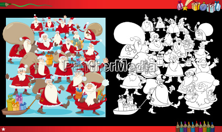 christmas group coloring page