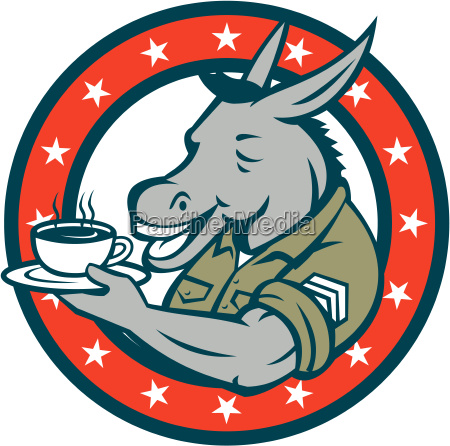 army, sergeant, donkey, coffee, circle, cartoon - 19416164