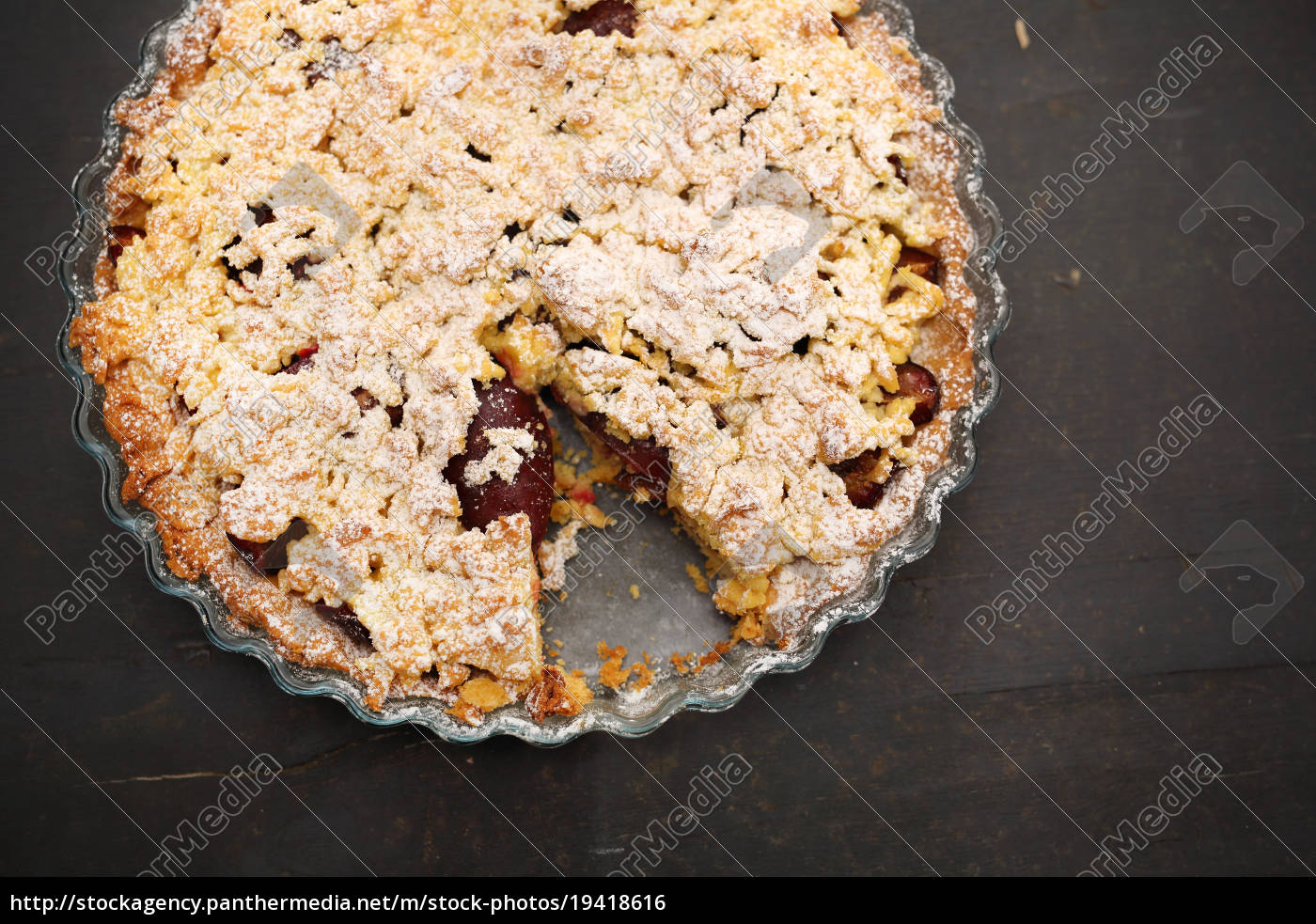 homemade, cake, with, fruit. - 19418616
