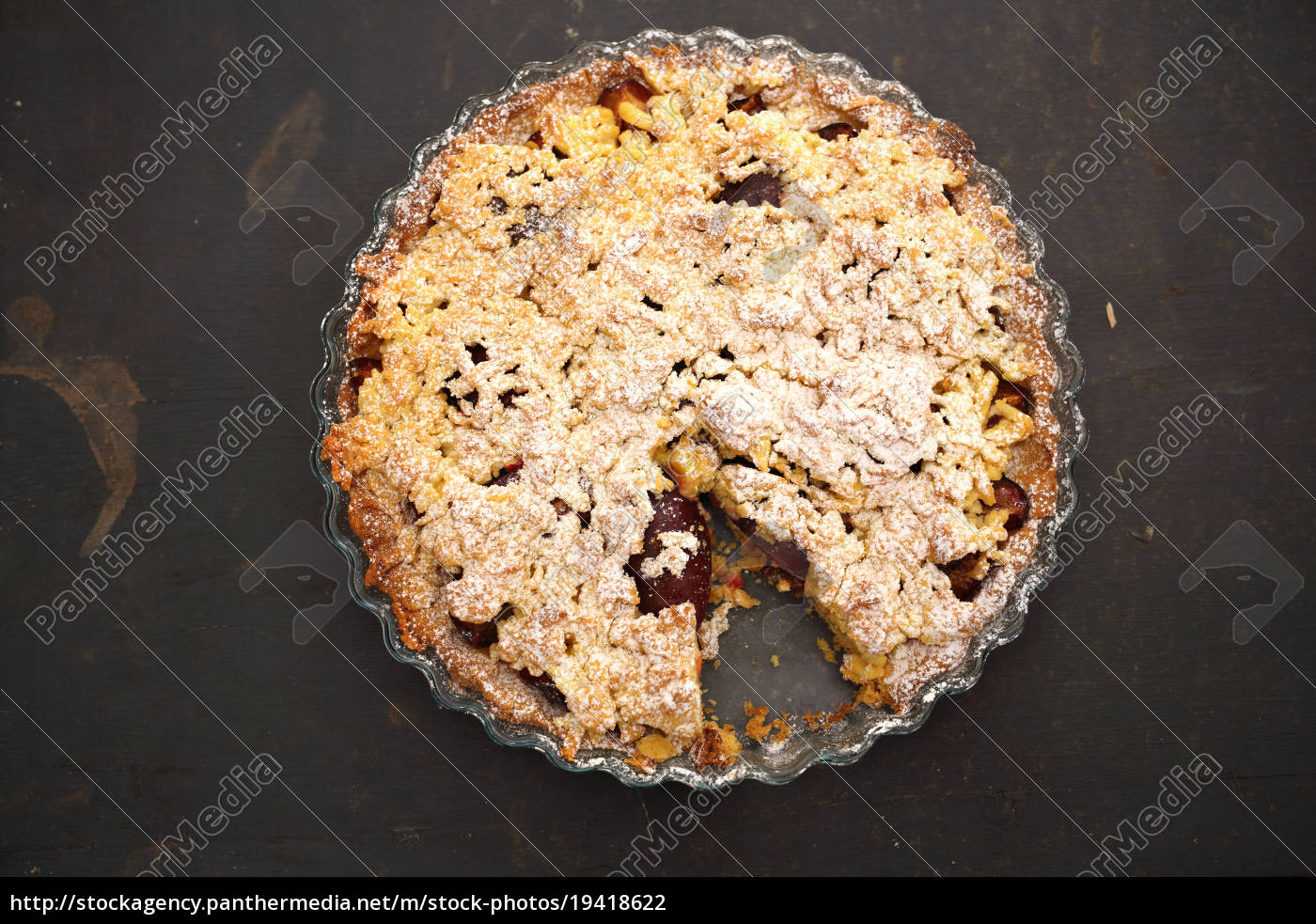 homemade, cake, with, fruit. - 19418622