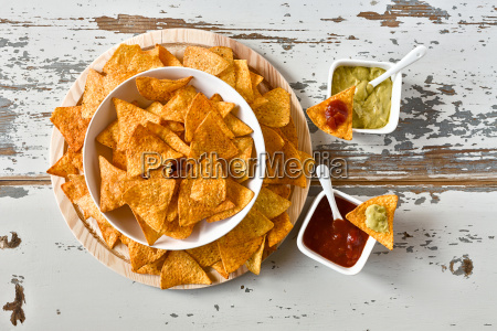 nachos, in, a, white, bowl, and - 19419344