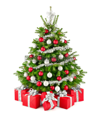 elegant, christmas, tree, and, gifts, in - 19420198