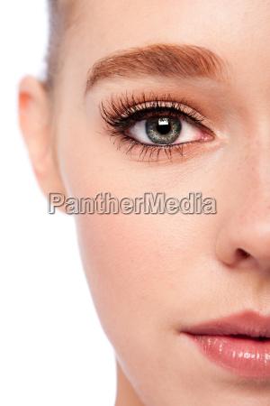 beauty eye and half face