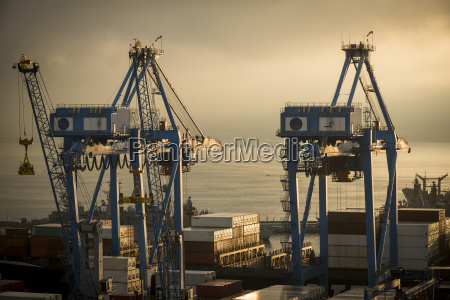 view of city and ports at