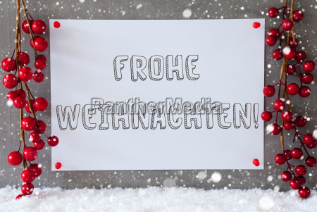 label snowflakes decoration frohe weihnachten means