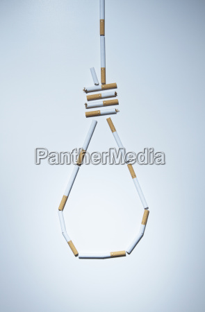 hangmans knot made out of cigarettes