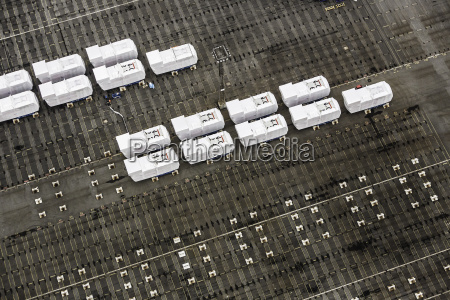 rows of nacelles component part for