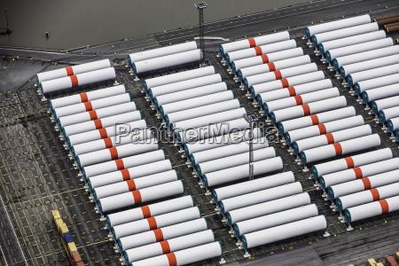 rows of wind towers component part