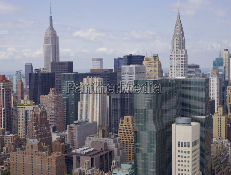 aerial view of manhattan skyline new