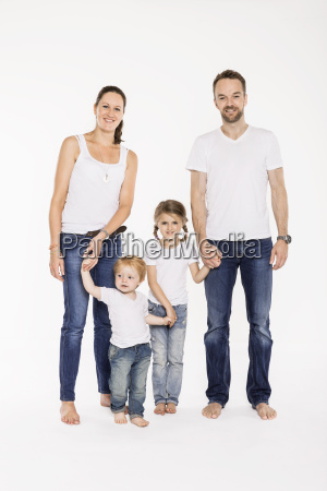studio portrait of parents with their
