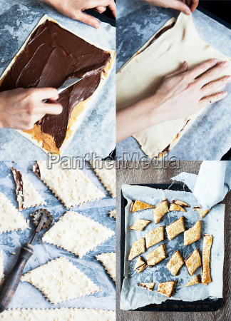 collage of chocolate sandwich cookies