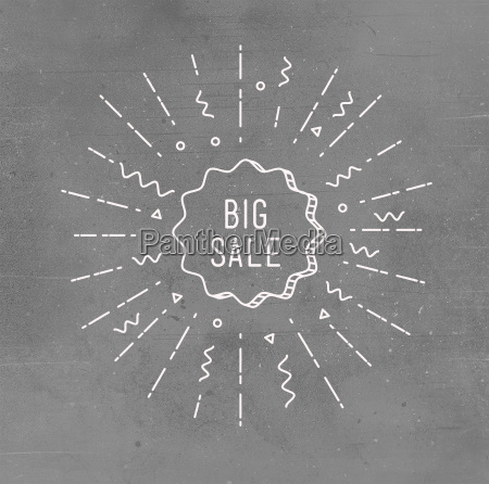 big sale shining banner colorful background