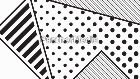 black and white pop art geometric