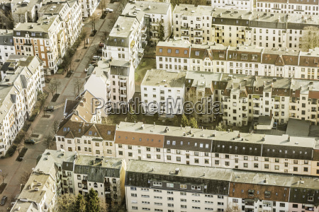 aerial view of apartment blocks bremerhaven