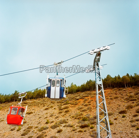 cable cars on broken cable