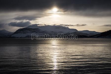 sunset lofoten norway