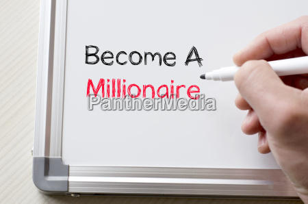 become a millionaire written on whiteboard