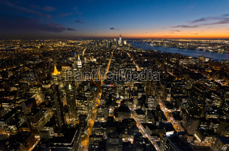view from empire state building looking