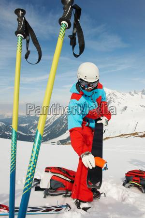 skifahrer vorbereitung ausruestung kuehtai oesterreich