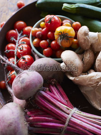 still life of fresh vegetables and