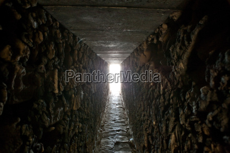 tunnel with daylight