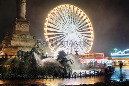 ferris wheel at night bordeaux france